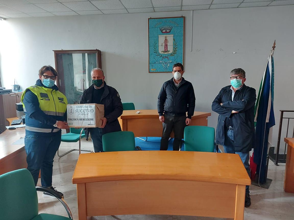 Xeco srl dona mascherine al Comune di Succivo
