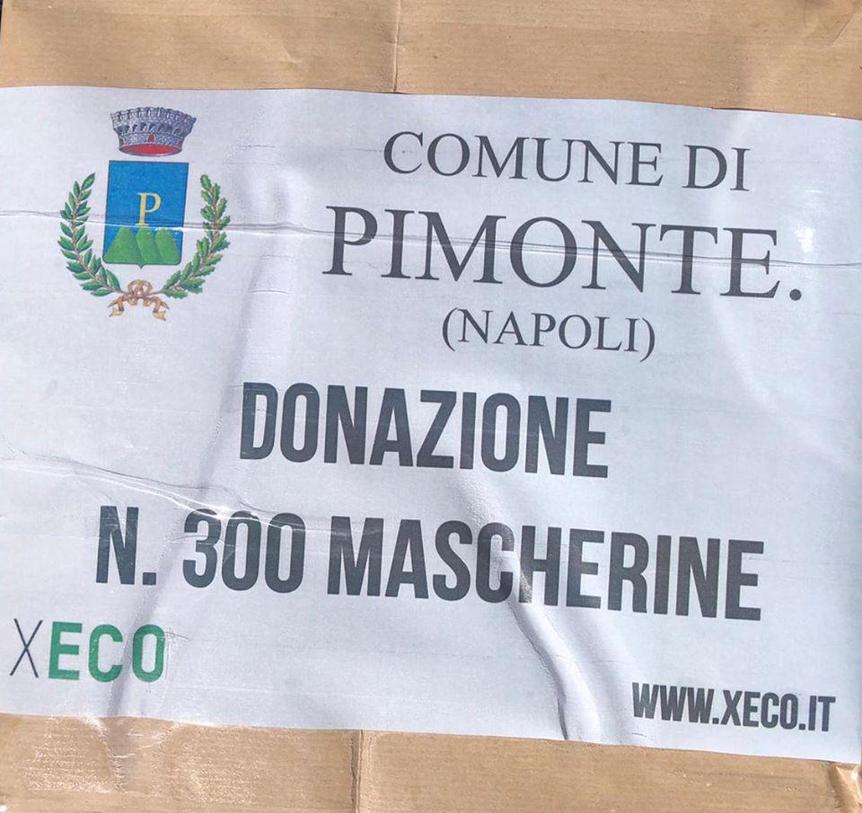La XECO srl, dona 300 mascherine al Comune di Pimonte