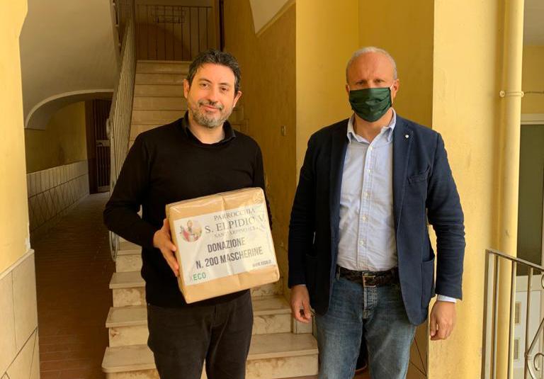 La Xeco srl dona 200 mascherine alla Parrocchia di S. Elpidio Vescovo