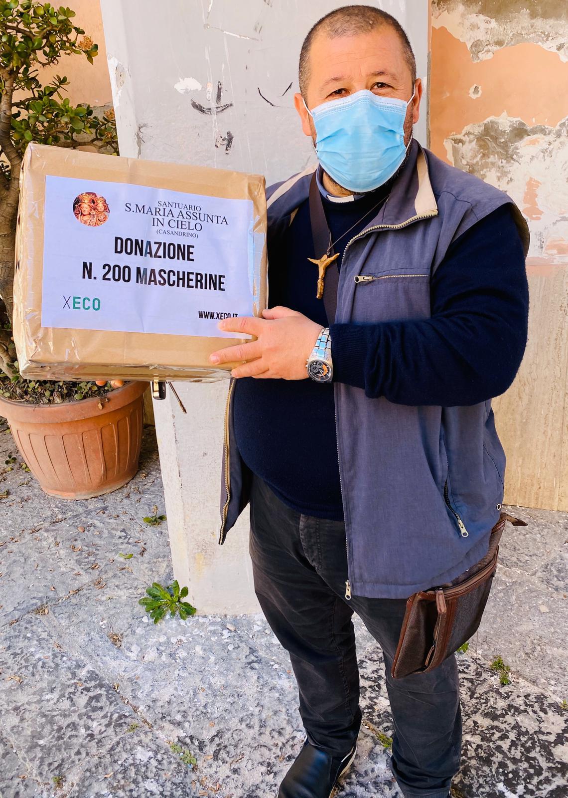 Donate n. 200 mascherine al Santuario di S.Maria Assunta in Cielo